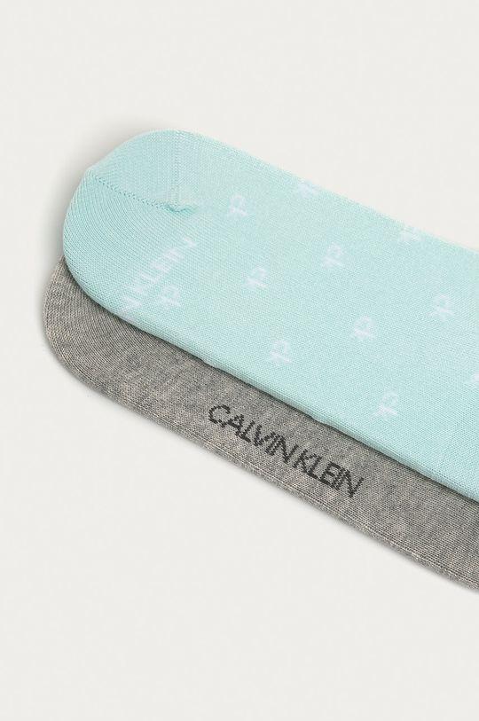 Calvin Klein - Členkové ponožky (2-pak) sivá