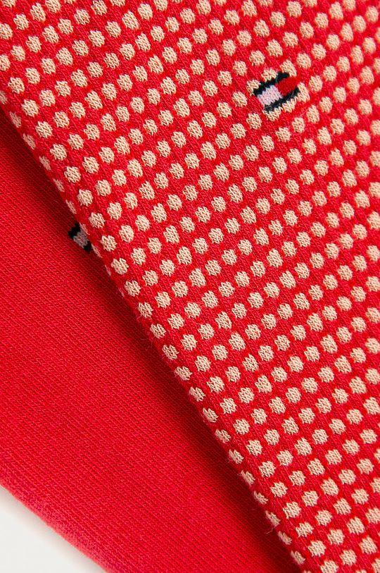 Tommy Hilfiger - Ponožky (2-pak) ružovo-červená