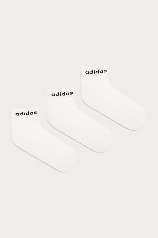 biela adidas - Členkové ponožky (3-pak) Dámsky