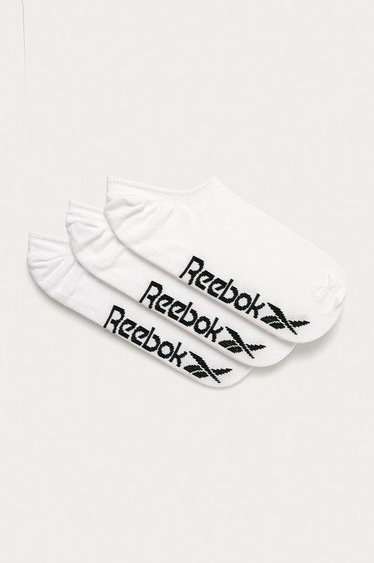 alb Reebok - Sosete scurte (3-pack) De femei