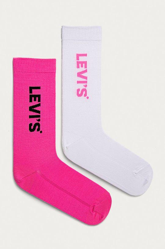 sýto ružová Levi's - Ponožky (2-pak) Dámsky