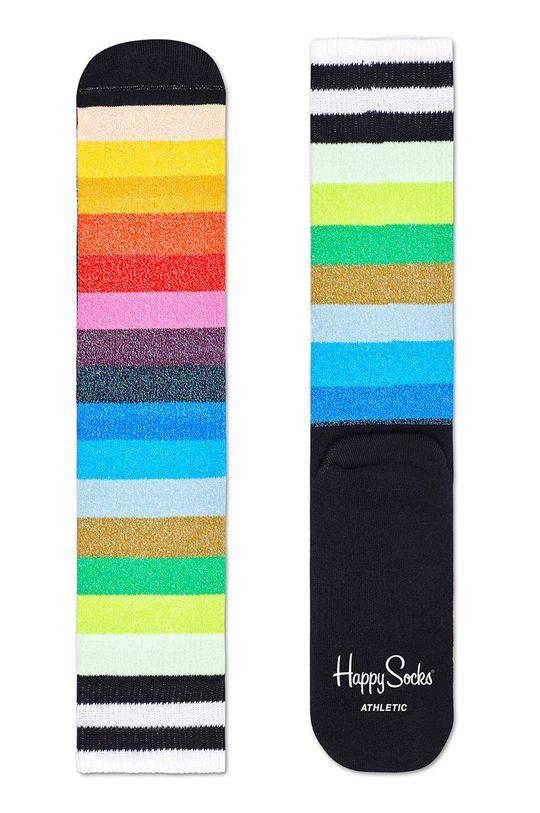 viacfarebná Happy Socks - Ponožky Athletic Stripe Crew Dámsky