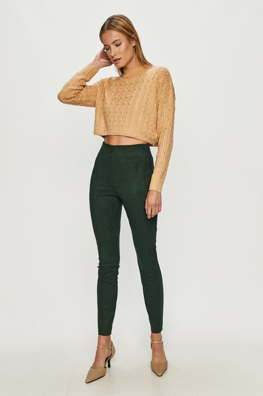 Vero Moda - Spodnie zielony
