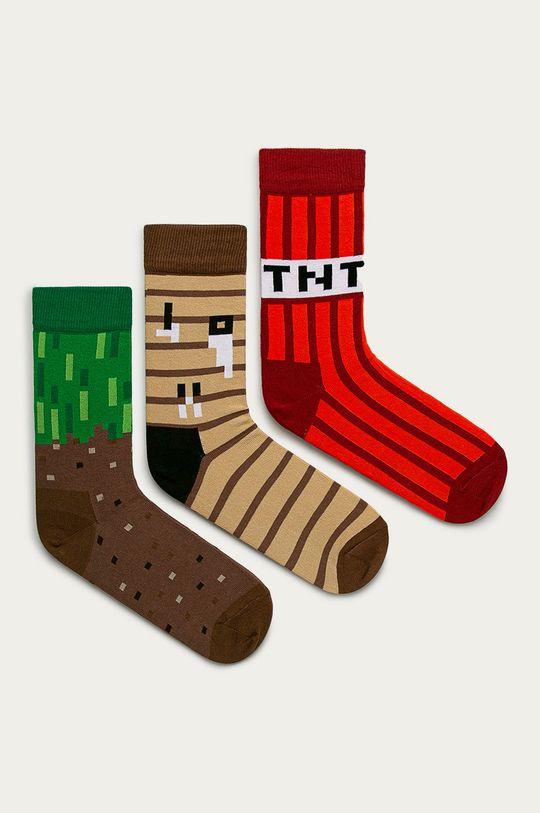 multicolor Happy Socks - Sosete Minecraft Gift Box (3-PACK) De femei