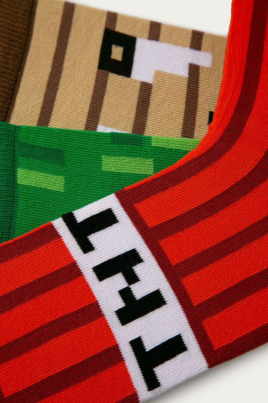 Happy Socks - Sosete Minecraft Gift Box (3-PACK) multicolor