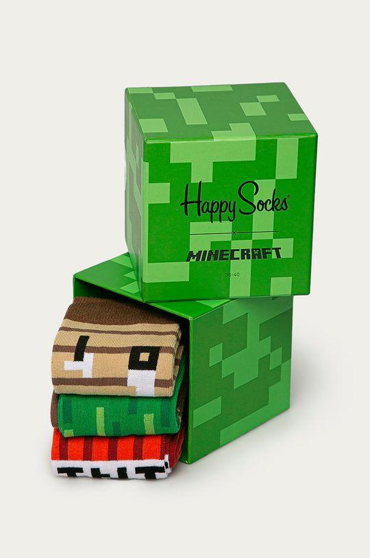 Happy Socks - Sosete Minecraft Gift Box (3-PACK)  86% Bumbac, 2% Elastan, 12% Poliamida