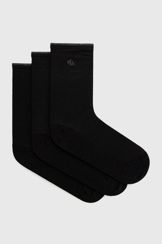 černá Lauren Ralph Lauren - Ponožky (3-pack) Dámský