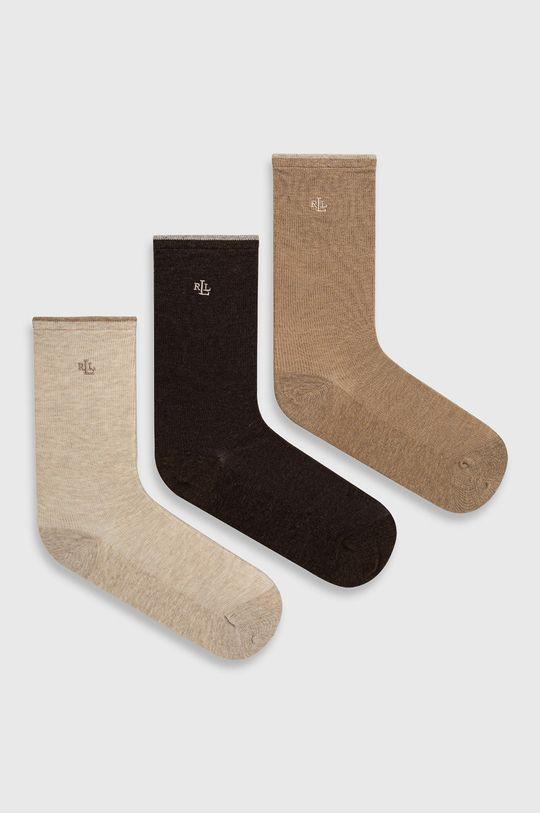 béžová Lauren Ralph Lauren - Ponožky Dámský