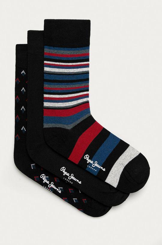 čierna Pepe Jeans - Ponožky TRAVIS (3-pak) Pánsky