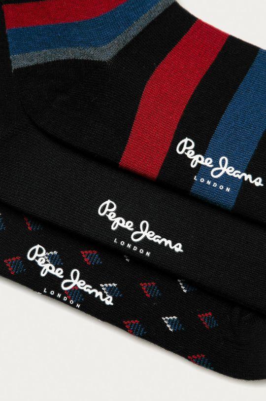 Pepe Jeans - Ponožky TRAVIS (3-pak) čierna