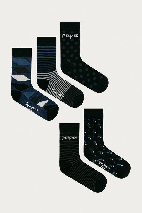 tmavomodrá Pepe Jeans - Ponožky Elon (5-pak) Pánsky
