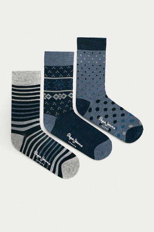 modrá Pepe Jeans - Ponožky Roddy (3-pak) Pánsky