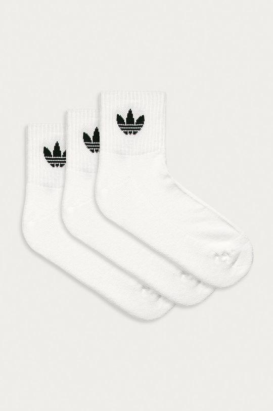 biały adidas Originals - Skarpetki (3-pack) Męski