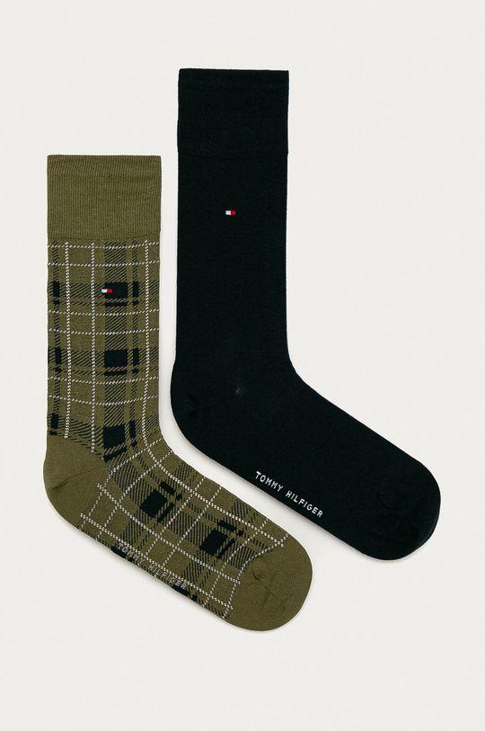 olivová Tommy Hilfiger - Ponožky (2-pak) Pánsky