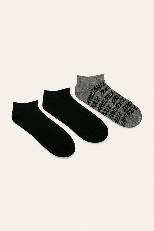 černá Diesel - Ponožky (3-pack) Pánský