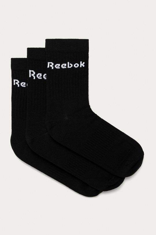 czarny Reebok - Skarpetki (3-pack) Męski