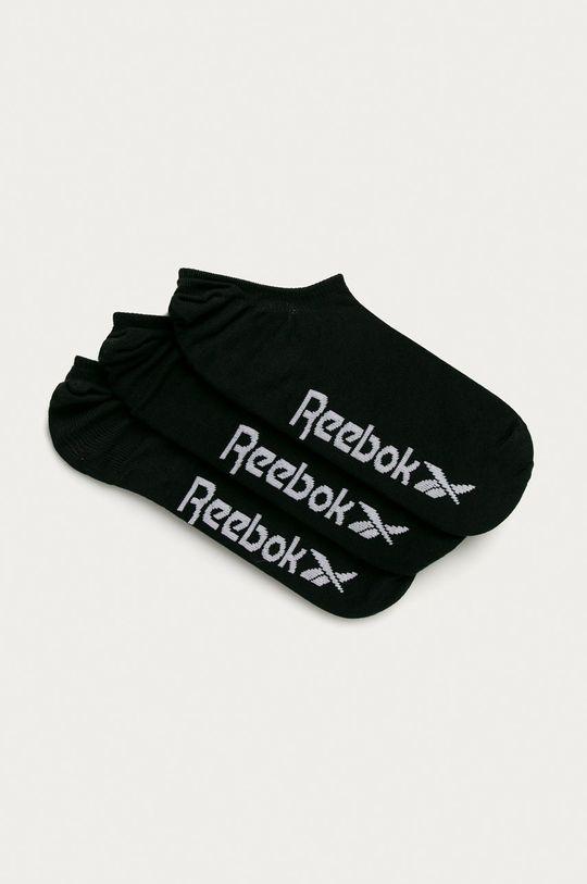 černá Reebok - Kotníkové ponožky (3-pack) Pánský