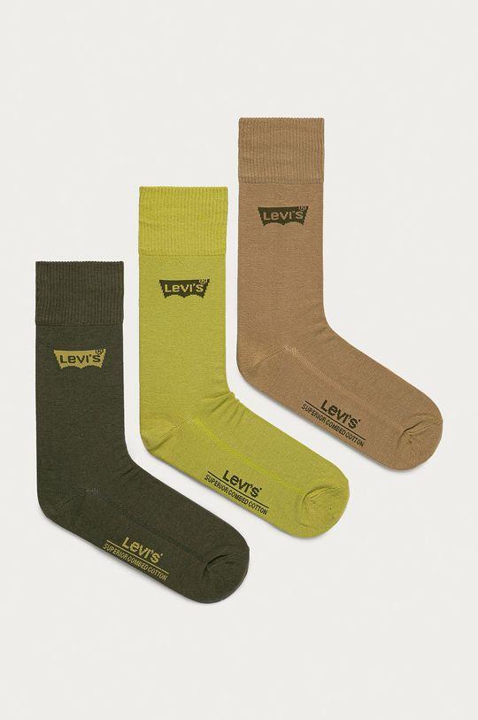 zelená Levi's - Ponožky (3-pak) Pánsky