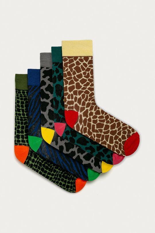 vícebarevná Brave Soul - Ponožky (5-pack) Pánský