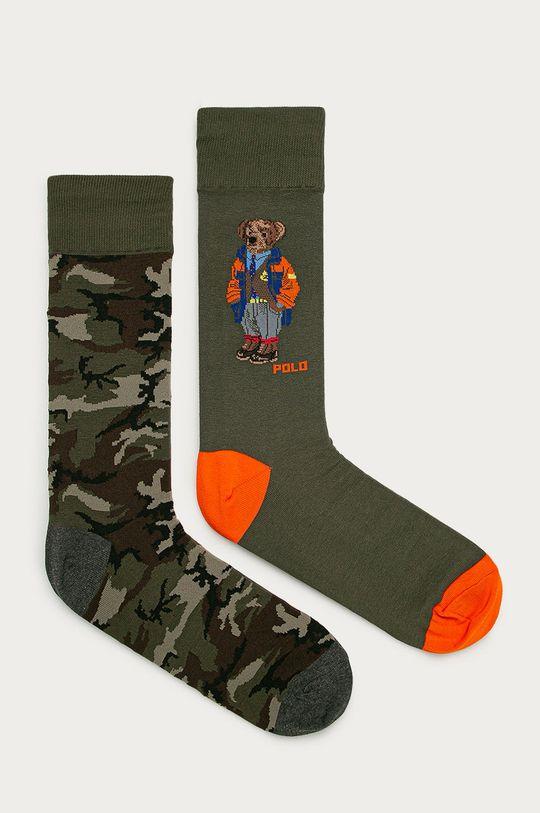 zelená Polo Ralph Lauren - Ponožky (2-pack) Pánský