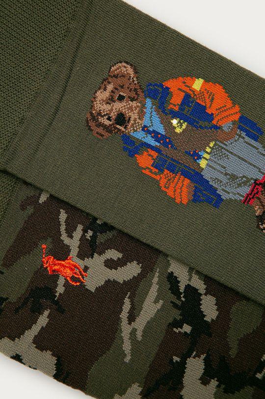 Polo Ralph Lauren - Ponožky (2-pack) zelená