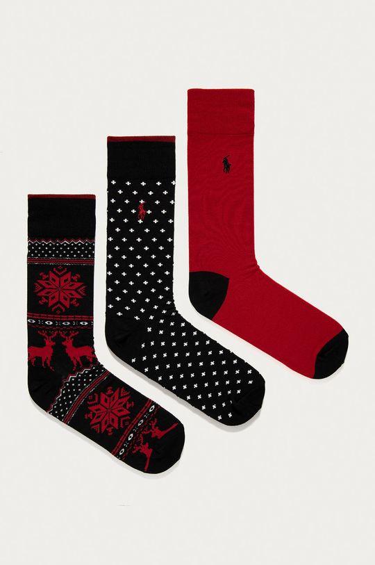viacfarebná Polo Ralph Lauren - Ponožky (3-pak) Pánsky