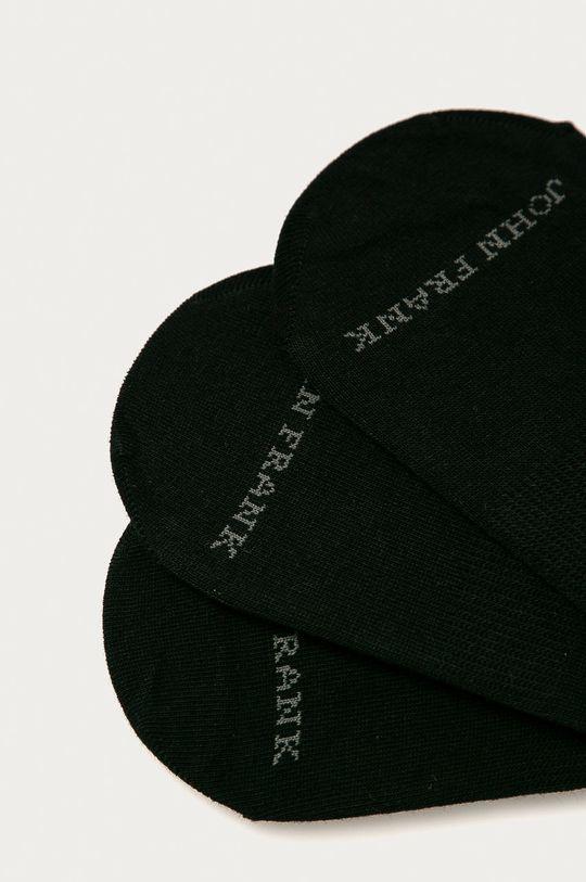John Frank - Kotníkové ponožky (3-pack) černá
