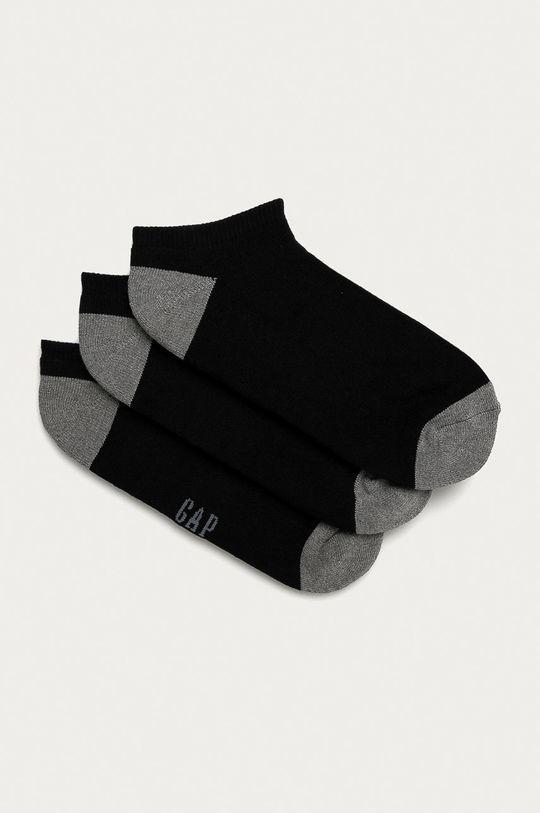 negru GAP - Sosete scurte (3-pack) De bărbați