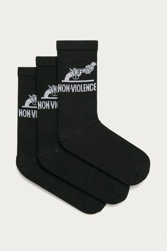 čierna Jack & Jones - Ponožky (3-pak) Pánsky