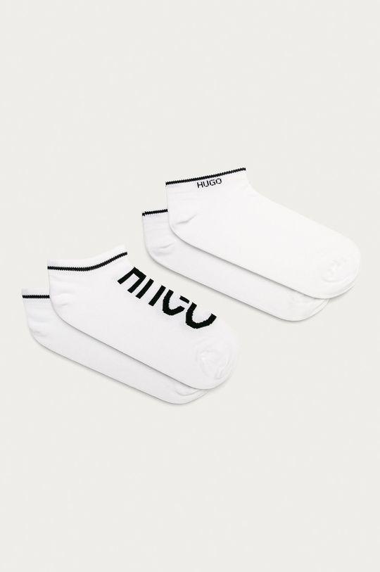 biały Hugo - Stopki (2-pack) Unisex