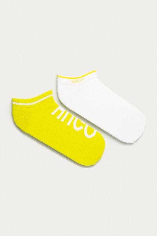 žlutá Hugo - Kotníkové ponožky (2-pack) Unisex