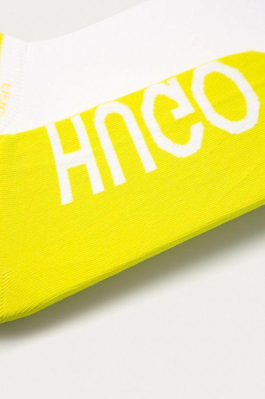 Hugo - Kotníkové ponožky (2-pack) žlutá
