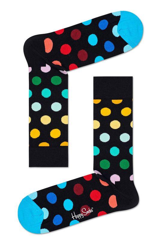 černá Happy Socks - Ponožky Big Dot (2-pack) Pánský