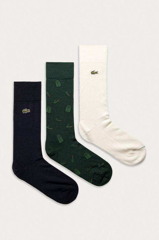 zelená Lacoste - Ponožky (3-pak) Pánsky
