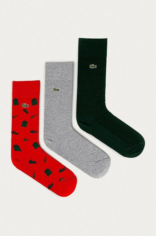 sivá Lacoste - Ponožky (3-pak) Pánsky