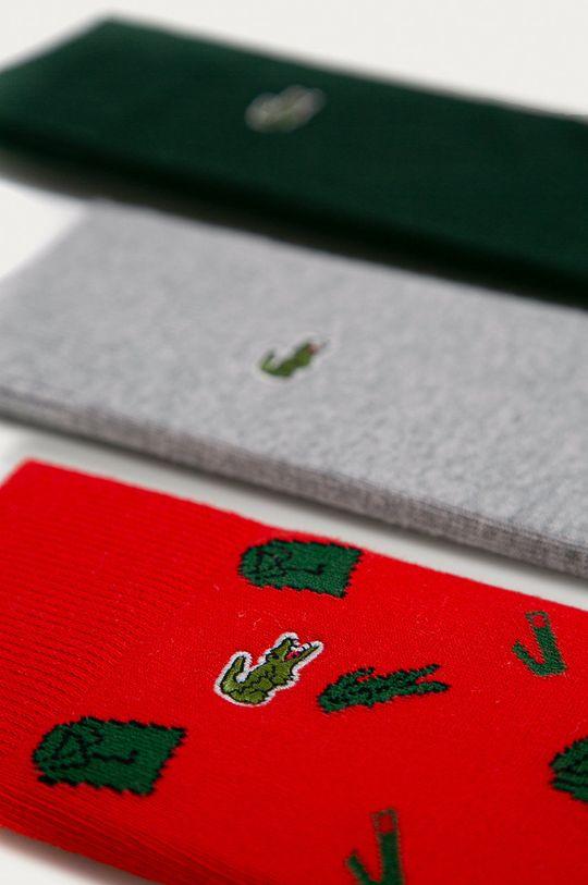 Lacoste - Ponožky (3-pak) sivá