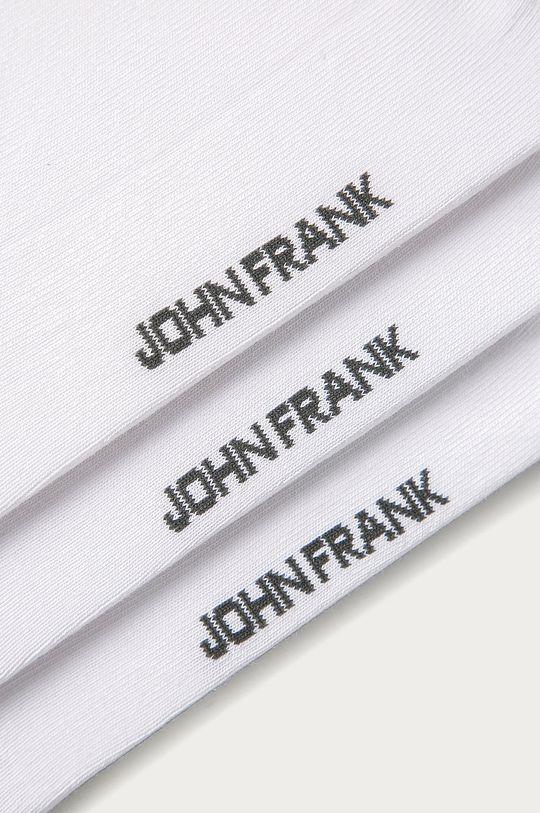 John Frank - Členkové ponožky (3-pak) biela
