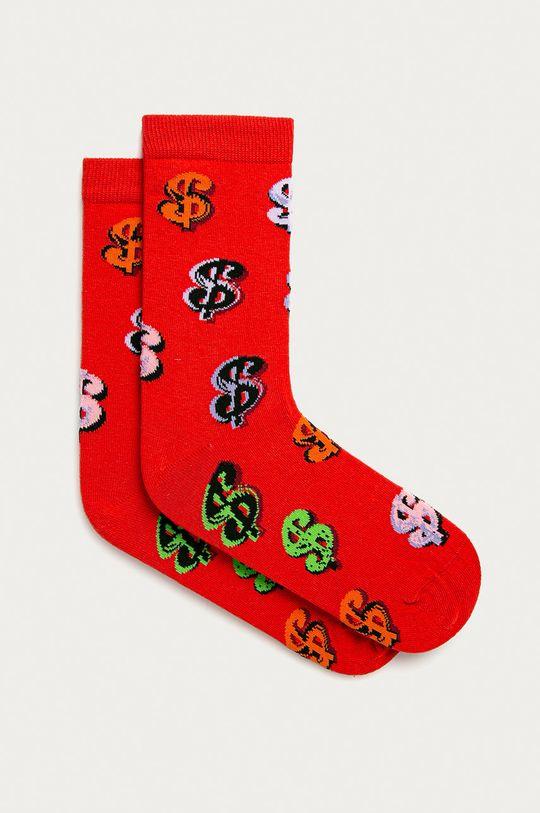 červená John Frank - Ponožky Pánský