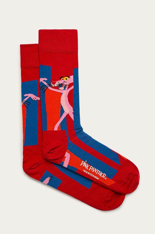 červená Happy Socks - Ponožky Pink Panther Pánský