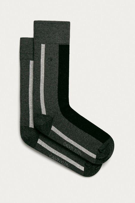 grafitová Calvin Klein - Ponožky Pánský