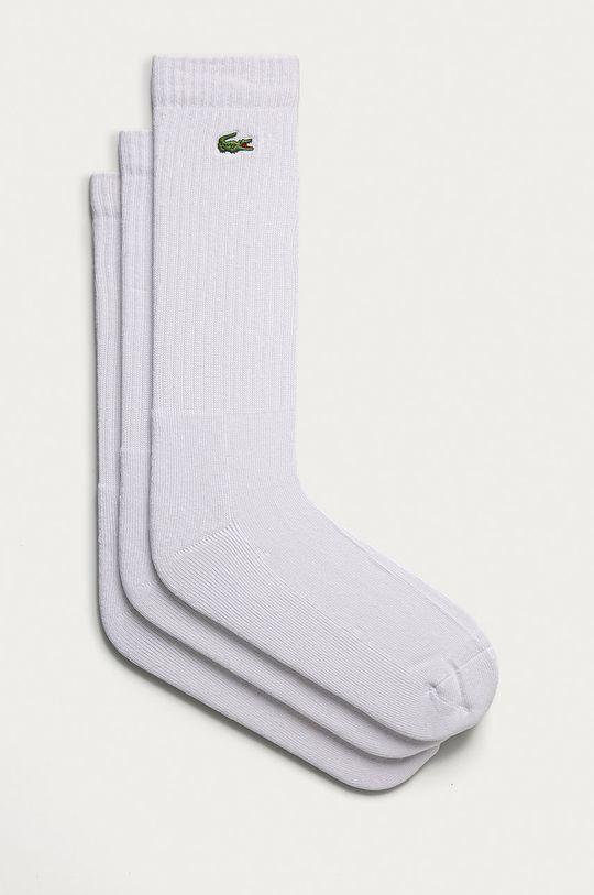 bílá Lacoste - Ponožky (3-PACK) Pánský