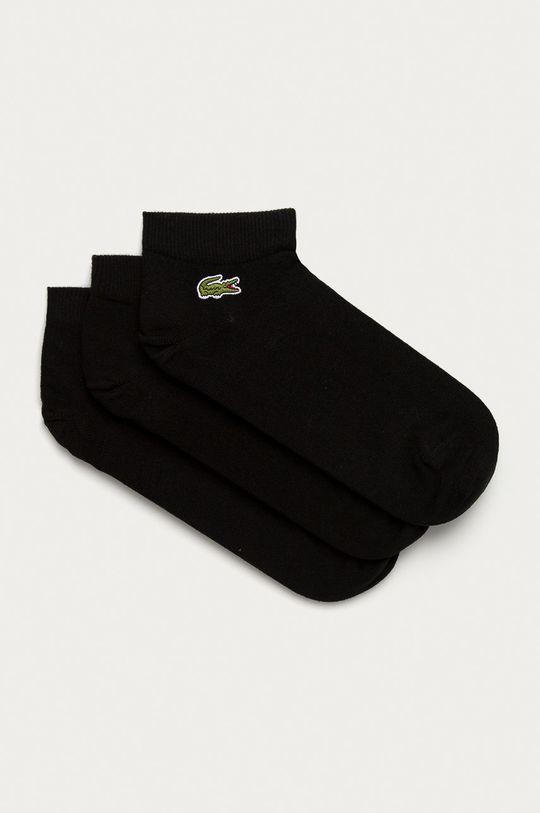 čierna Lacoste - Ponožky (3-pak) Pánsky