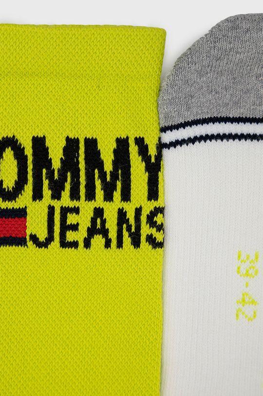 Tommy Jeans - Sosete (2-pack) galben – verde