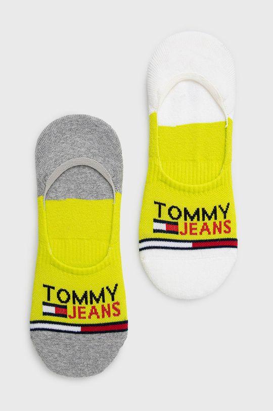 galben – verde Tommy Jeans - Sosete scurte (2-pack) Unisex