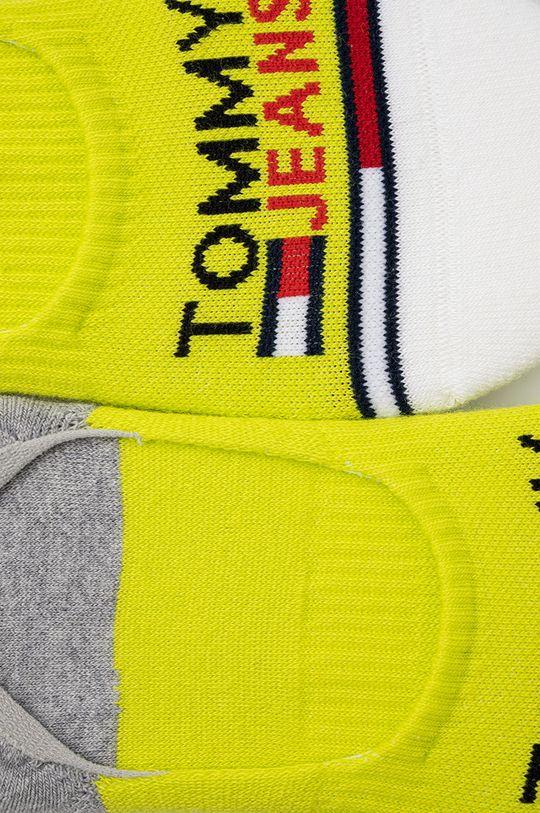 Tommy Jeans - Sosete scurte (2-pack) galben – verde