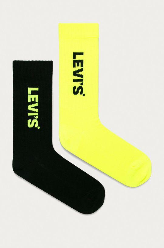 žlto-zelená Levi's - Ponožky (2-pak) Unisex