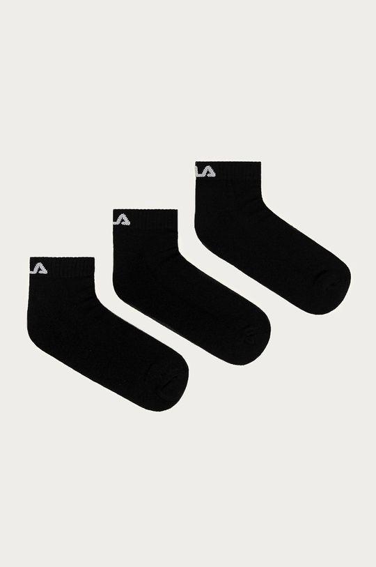 černá Fila - Ponožky (3-pack) Unisex