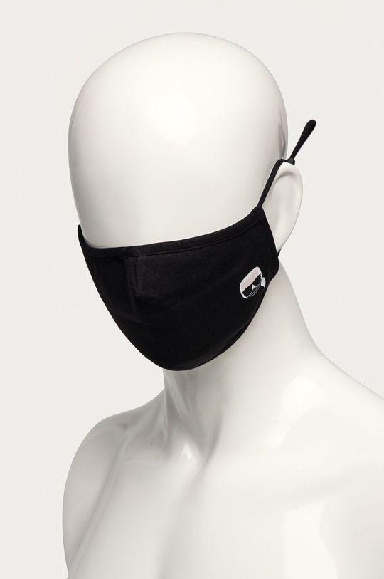 Karl Lagerfeld - Ochranné rúško čierna