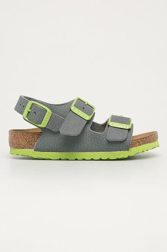 šedá Birkenstock - Dětské sandály Milano Kinder Chlapecký