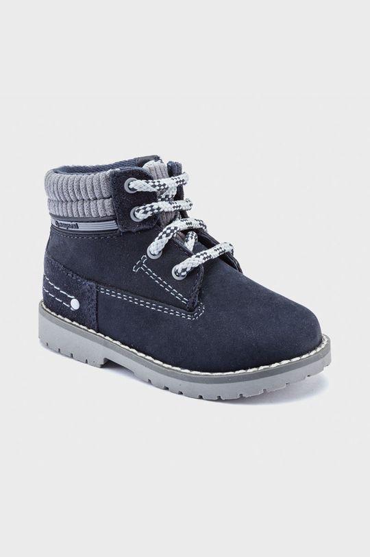 tmavomodrá Mayoral - Detské semišové topánky Chlapčenský